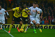 Captain Troy Deeney during the Sky Bet Championship match between Watford and Derby County at Vicarage Road, Watford, England on 22 November 2014.
