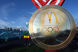 Olympic Winter Games Vancouver 2010 - Olympische Winter Spiele Vancouver 2010, McDonalds, Schild, sign,  ** Photo by Malte Christians / HOCH ZWEI / SPORTIDA.com.