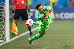 July 1, 2018 - Nizhny Novgorod, Russia - Goalkeeper Danijel Subasic of Croatia saving a penalty kick against Denmark in the Round of 16 match during the FIFA World Cup 2018 in Nizhny Novgorod, Russia, 1 July 2018. (Credit Image: © Foto Olimpik/NurPhoto via ZUMA Press)