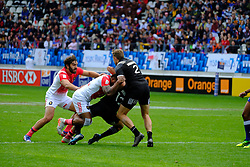 May 14, 2017 - Paris, France - JEAN BAPTISTE MAZOUE of French team During the match against New Zealand of HSBC World Rugby Sevens Series at Jean Bouin stadium of Paris France.New Zealand beats France 14-0 (Credit Image: © Pierre Stevenin via ZUMA Wire)