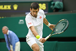 LONDON, ENGLAND - Wednesday, June 29, 2016: Novak Djokovic (SRB) during the Gentlemen's Single 2nd Round match on day three of the Wimbledon Lawn Tennis Championships at the All England Lawn Tennis and Croquet Club. (Pic by Kirsten Holst/Propaganda)
