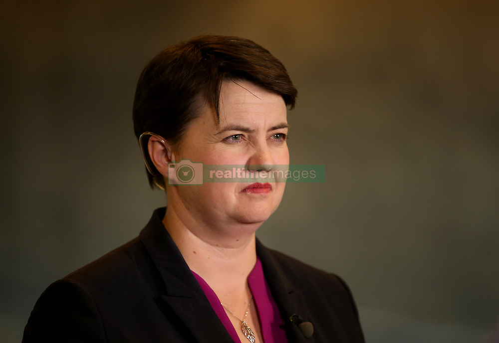 Scottish Conservative leader Ruth Davidson at Meadowbank Sports Centre in Edinburgh, as counting is under way for the General Election.