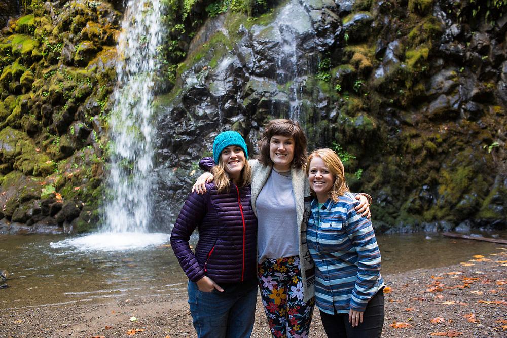 Fall Creek Falls, along the North Umpqua River. Cascade Mountains, Oregon.