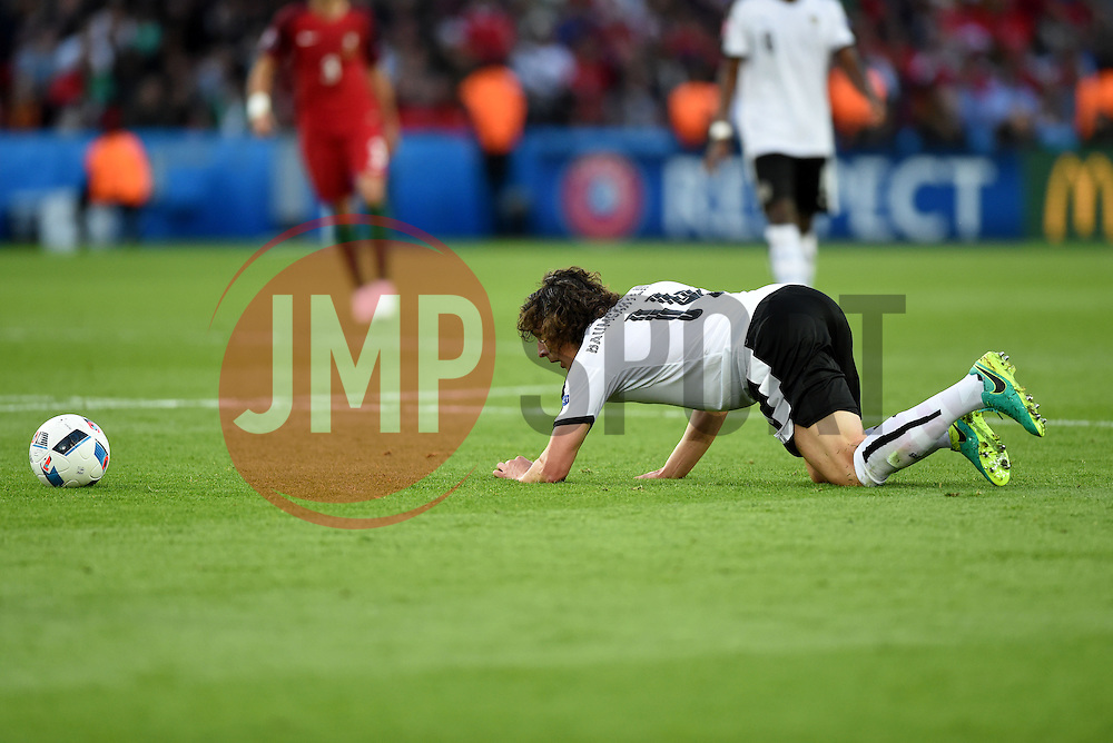 Julian Baumgartlinger of Austria  - Mandatory by-line: Joe Meredith/JMP - 18/06/2016 - FOOTBALL - Parc des Princes - Paris, France - Portugal v Austria - UEFA European Championship Group F