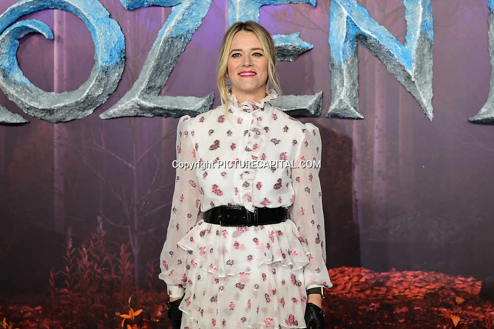Edith Bowman attend European Premiere of Frozen 2 on 17 November 2019, BFI Southbank, London, UK.