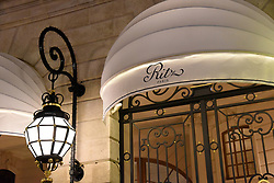 An outside view of The Ritz palace hotel, Place Vendome in Paris, France, January 11, 2018. Police have recovered some of the jewels worth over 4 million Euros looted from the Ritz hotel in central Paris, as officers hunt for two thieves who remain on the run. A gang of five used axes to smash the display windows of jewellery shops on the ground floor of the hotel in Place Vendome on Wednesday evening at around 6:30 pm. Photo by Alain Apaydin/ABACAPRESS.COM
