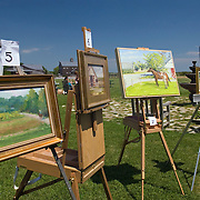 Paintings for Auction at Martha Clara Vineyards at the Fifth Annual Spring VIneyard Ride, 2008