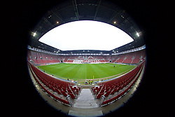 AUGSBURG, GERMANY - Wednesday, February 17, 2016: A general view of the Augsburg Arena (aka WWK Arena) ahead of the UEFA Europa League Round of 32 1st Leg match between FC Augsburg and Liverpool FC. (Pic by David Rawcliffe/Propaganda)