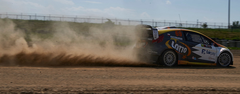 Martin Kaczmarski from Poland drives his car rally cross RX Lites during training session on rally cross track on May 19, 2015 in Slomczyn, Poland<br /> <br /> Poland, Slomczyn, May 19, 2015<br /> <br /> Picture also available in RAW (NEF) or TIFF format on special request.<br /> <br /> For editorial use only. Any commercial or promotional use requires permission.<br /> <br /> Adam Nurkiewicz declares that he has no rights to the image of people at the photographs of his authorship.<br /> <br /> Mandatory credit:<br /> Photo by &copy; Adam Nurkiewicz / Mediasport