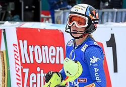 28.12.2017, Hochstein, Lienz, AUT, FIS Weltcup Ski Alpin, Lienz, Slalom, Damen, 2. Lauf, im Bild Manuela Moelgg (ITA) // Manuela Moelgg of Italy reacts after her 2nd run of ladie's Slalom of FIS ski alpine world cup at the Hochstein in Lienz, Austria on 2017/12/28. EXPA Pictures © 2017, PhotoCredit: EXPA/ Erich Spiess