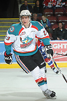 KELOWNA, CANADA - FEBRUARY 15:  Tanner Moar #23 of the Kelowna Rockets skates on the ice at the Kelowna Rockets on February 15, 2012 at Prospera Place in Kelowna, British Columbia, Canada (Photo by Marissa Baecker/Getty Images) *** Local Caption *** Tanner Moar;