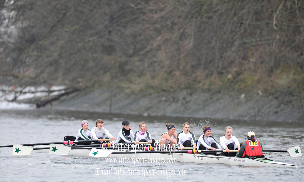 London. Great Britain.  RV Treviris 1921 eV Trier..  2010 Women's Head of the River Race, Raced over the reverse Championship Course, Chiswick to Putney, River Thames, England,  Saturday   13/03/2010 [Mandatory Credit. Peter Spurrier/Intersport Images]