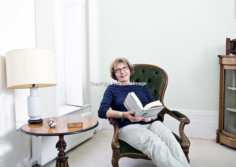Joan Bakewell photographed at home in North London for 'Readers Rooms'