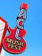 The entrance to the Austin City Limits Music Festival, Austin Texas, September 26 2008.