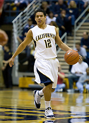 February 13, 2010; Berkeley, CA, USA;  California Golden Bears guard Brandon Smith (12) during the first half against the Washington State Cougars  at the Haas Pavilion. California defeated Washington State 86-70.