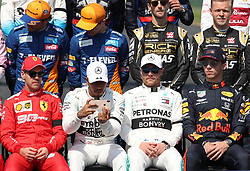 MELBOURNE, March 17, 2019  Mercedes' driver Lewis Hamilton of Britain takes photos with his cell phone as drivers pose for a group photo ahead of the Formula 1 Australian Grand Prix 2019 at the Albert Park in Melbourne, Australia, March 17, 2019. (Credit Image: © Bai Xuefei/Xinhua via ZUMA Wire)