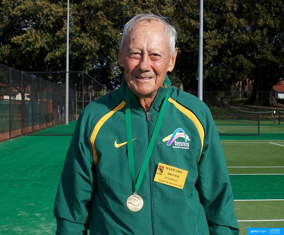 Harward Hillier, Australia, 80 Mens Singles Winner during the 2009 ITF Super-Seniors World Team and Individual Championships at Perth, Western Australia, between 2-15th November, 2009.