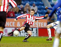 Photo: Leigh Quinnell.<br /> Leicester City v Southampton. The FA Cup. 28/01/2006.<br /> Southamptons Marion Pahars has a shot on goal.