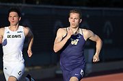 Parker Kennedy of Washington runs in the decathlon 400m during the Bryan Clay Invitational in Azusa, Calif., Wednesday, April 17, 2019.