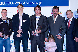 Matic Osovnikar, Rozle Prezelj, Primoz Kozmus, Vladimir Kevo and Peter Kukovica at Best Slovenian athlete of the year ceremony, on November 15, 2008 in Hotel Lev, Ljubljana, Slovenia. (Photo by Vid Ponikvar / Sportida)