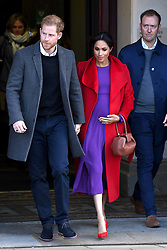 The Duke and Duchess of Sussex outside Birkenhead Town Hall, during a visit to Birkenhead. Photo credit should read: Doug Peters/EMPICS