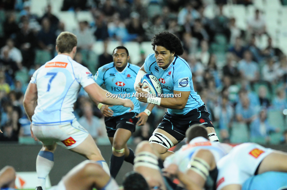 17.03.2012 Sydney, Australia. Waratahs Sitaleki Timani in action during the FxPro Super Rugby game between the New South Wales Waratahs  and Western Force at the Allianz Stadium,Sydney.