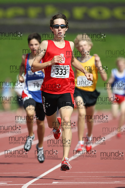 (Sherbrooke, Quebec---10 August 2008) Connor Darlington competing in the 800m at the 2008 Canadian National Youth and Royal Canadian Legion Track and Field Championships in Sherbrooke, Quebec. The photograph is copyright Sean Burges/Mundo Sport Images, 2008. More information can be found at www.msievents.com.