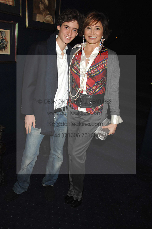 DORIT MOUSSAIEFF wife of the President of Iceland and her son JOHNNY COHEN at a party to celebrate the publication of the 2007 Tatler Little Black Book held at Tramp, 40 Jermyn Street, London on 7th November 2007.<br /><br />NON EXCLUSIVE - WORLD RIGHTS