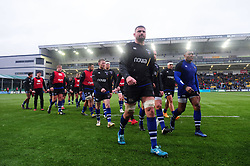 Bath Rugby leave the field after the pre-match warm-up - Mandatory byline: Patrick Khachfe/JMP - 07966 386802 - 15/02/2020 - RUGBY UNION - Sixways Stadium - Worcester, England - Worcester Warriors v Bath Rugby - Gallagher Premiership
