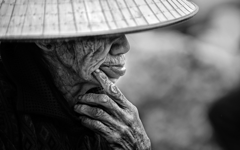Pondering the past. Vietnam