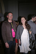 GILES DEACON AND KATIE GRAND, Art Plus Music party. Fundraiser for the Whitechapel. 30 March 2006. ONE TIME USE ONLY - DO NOT ARCHIVE  © Copyright Photograph by Dafydd Jones 66 Stockwell Park Rd. London SW9 0DA Tel 020 7733 0108 www.dafjones.com