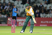 Harry Gurney of Nottinghamshire Outlaws batting during the Vitality T20 Blast North Group match between Nottinghamshire County Cricket Club and Worcestershire County Cricket Club at Trent Bridge, West Bridgford, United Kingdon on 18 July 2019.