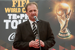 President of Slovenian football federation Ivan Simic at VIP reception of FIFA World Cup Trophy Tour by Coca-Cola, on March 29, 2010, in BTC City, Ljubljana, Slovenia.  (Photo by Vid Ponikvar / Sportida)