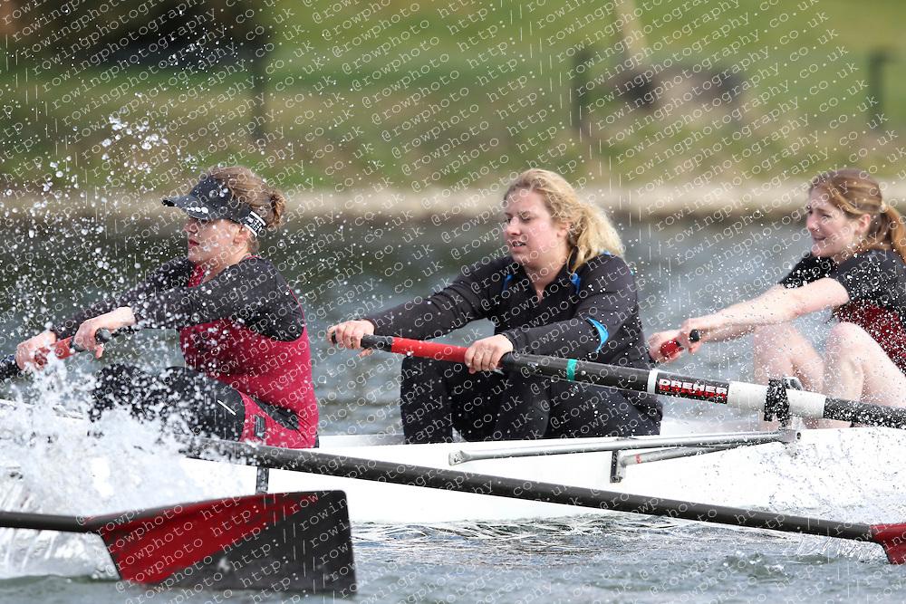 2012.02.25 Reading University Head 2012. The River Thames. Division 1. Vesta Rowing Club WNov 8+