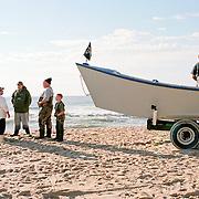 (11x17 pine frame) After setting gill net. Amagansett, NY (35mm film)