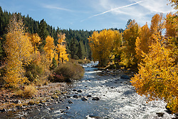 """""""Truckee River in Autumn 4"""" - Photograph of the Truckee River in Autumn near Downtown Truckee, California."""