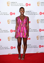 Michaela Coel in the press room at the Virgin TV British Academy Television Awards 2017 held at Festival Hall at Southbank Centre, London. PRESS ASSOCIATION Photo. Picture date: Sunday May 14, 2017. See PA story SHOWBIZ Bafta. Photo credit should read: Ian West/PA Wire