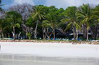 beautiful white sand diani beach near mombassa in kenya africa