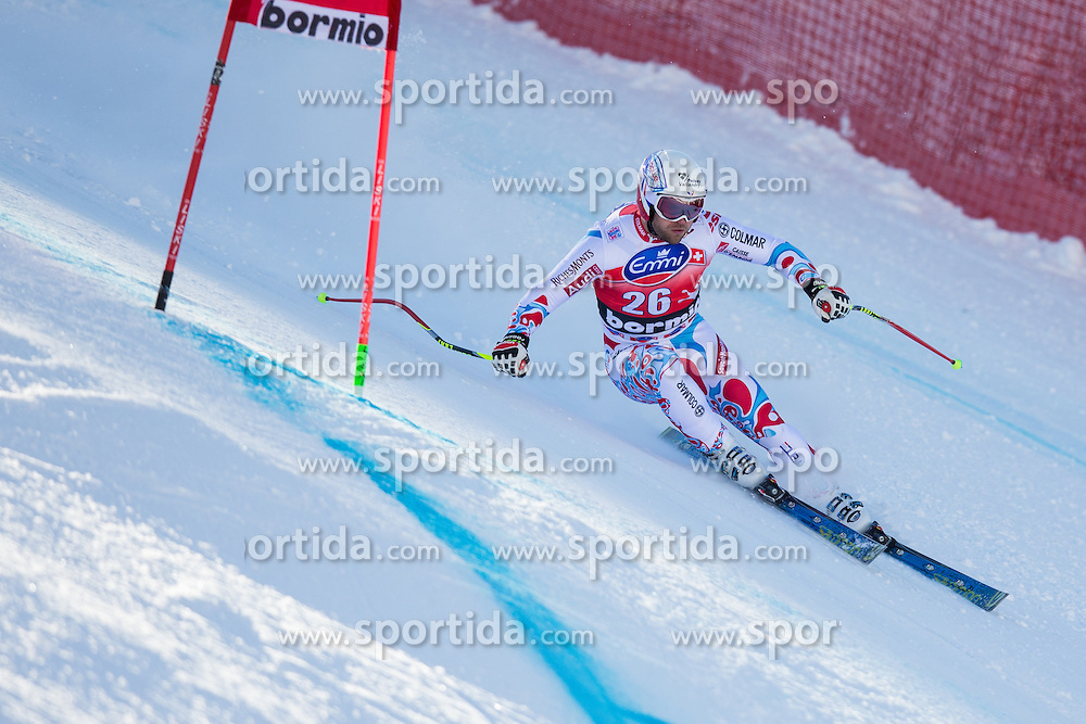 27.12.2013, Stelvio, Bormio, ITA, FIS Ski Weltcup, Bormio, Abfahrt, Herren, 1. Traininglauf, im Bild David Poisson (FRA) // David Poisson of France in action during mens 1st downhill practice of the Bormio FIS Ski Alpine World Cup at the Stelvio Course in Bormio, Italy on 2012/12/27. EXPA Pictures © 2013, PhotoCredit: EXPA/ Johann Groder