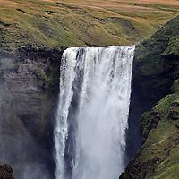 Skogafoss waterfall on Iceland south coast