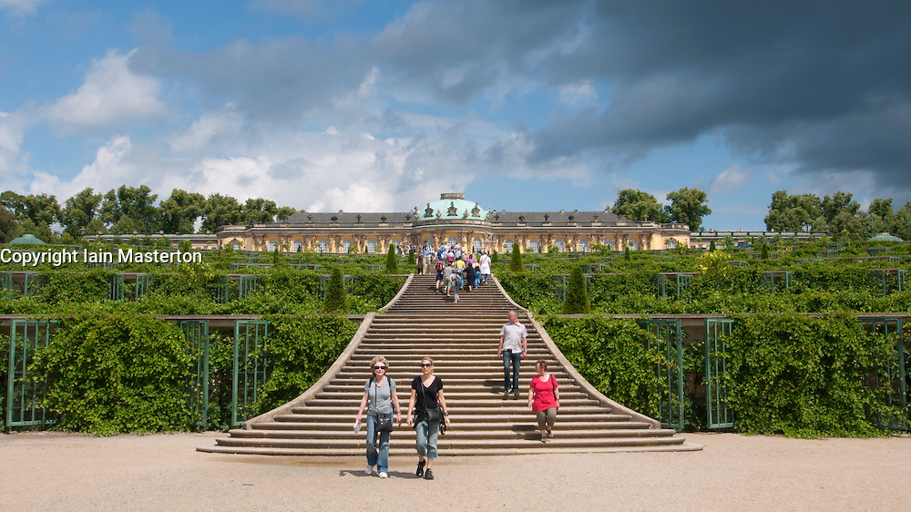 Gardens at SansSouci in Potsdam Germany