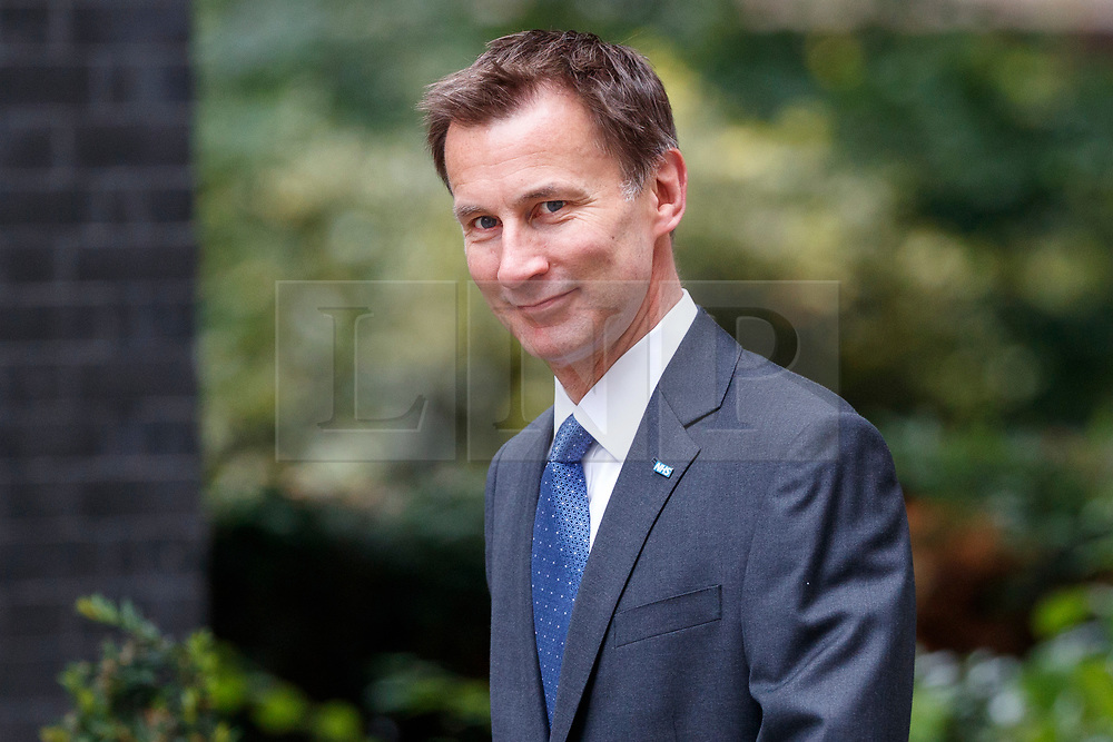 © Licensed to London News Pictures. 11/07/2017. London, UK. Health Secretary JEREMY HUNT attends a cabinet meeting in Downing Street, London on Tuesday, 11 July 2017. Photo credit: Tolga Akmen/LNP