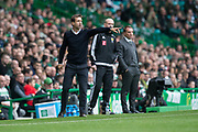 14th October 2017, Celtic Park, Glasgow, Scotland; Scottish Premiership football, Celtic versus Dundee; Dundee manager Neil McCann