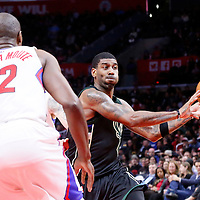 16 December 2015: Milwaukee Bucks guard O.J. Mayo (3) passes the ball during the Los Angeles Clippers 103-90 victory over the Milwaukee Bucks, at the Staples Center, Los Angeles, California, USA.