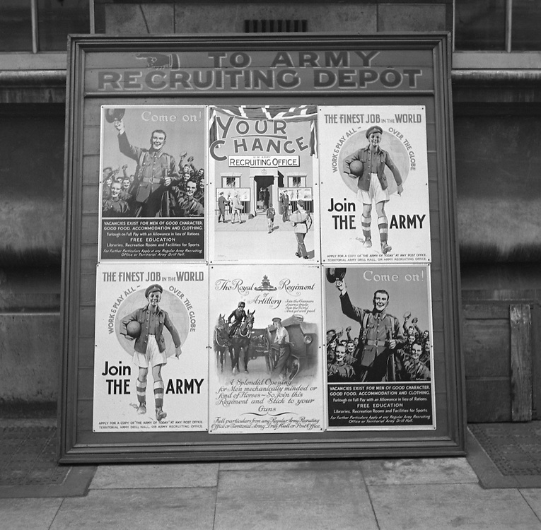 Central London Army Recruiting Posters, 1932
