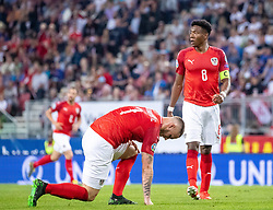 07.06.2019, Wörthersee Stadion, Klagenfurt, AUT, UEFA EM Qualifikation, Oesterreich vs Slowenien, Gruppe G, im Bild v.l. Marko Arnautovic (AUT), David Alaba (AUT) // f.l. Marko Arnautovic of Austria David Alaba of Austria during the UEFA European Championship qualification, group G match between Austria and Slovenia at the Wörthersee Stadion in Klagenfurt, Austria on 2019/06/07. EXPA Pictures © 2019, PhotoCredit: EXPA/ Johann Groder