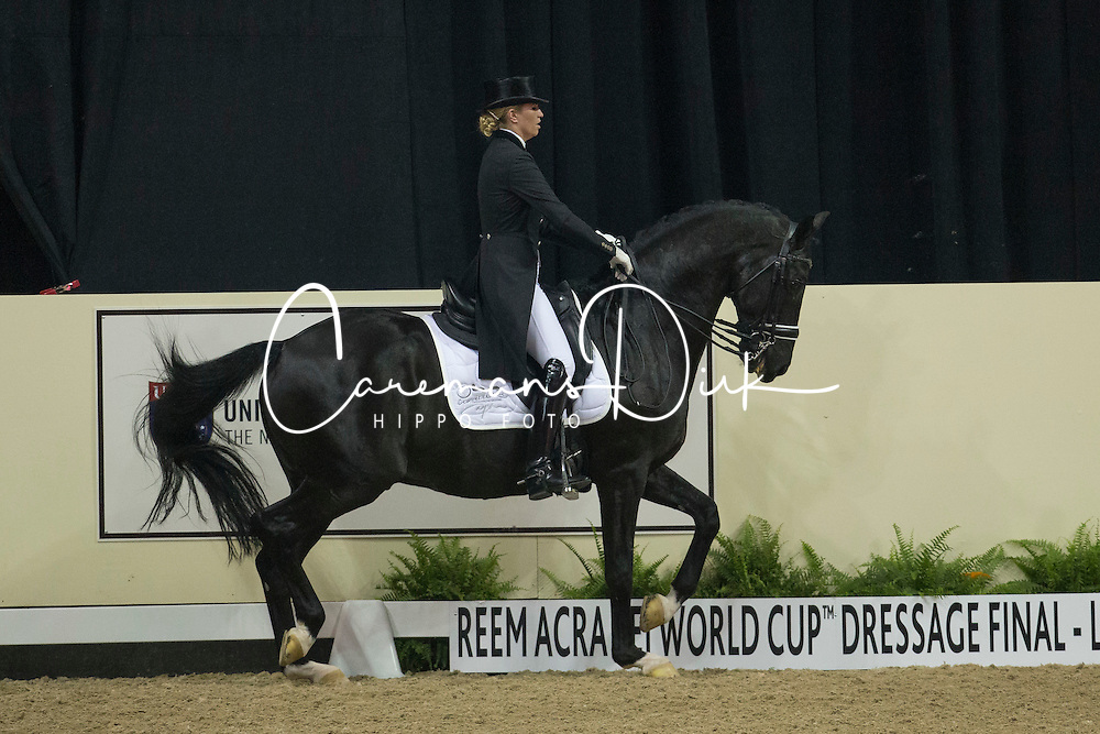 Barbancon Mestre Morgan, (ESP), Painted Black <br /> Kur<br /> Reem Acra FEI World Cup™ Dressage Final<br /> Las Vegas 2015<br />  © Hippo Foto - Dirk Caremans<br /> 18/04/15