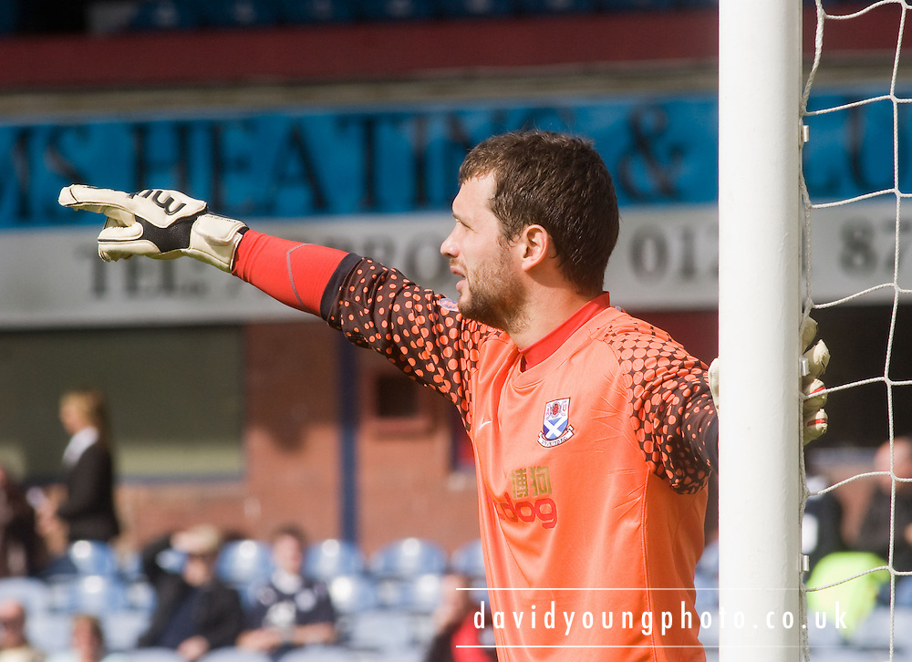 Ayr United keeper Kevin Cuthbert - Dundee v Ayr United, IRN BRU Scottish League First Division at Dens Park..© David Young.5 Foundry Place .Monifieth.DD5 4BB.07765252616.email: davidyoungphoto@gmail.com.http://www.davidyoungphoto.co.uk