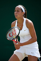 LONDON, ENGLAND - Thursday, June 30, 2011: Madison Keys (USA) in action during the Girls' Singles 3rd Round match on day ten of the Wimbledon Lawn Tennis Championships at the All England Lawn Tennis and Croquet Club. (Pic by David Rawcliffe/Propaganda)