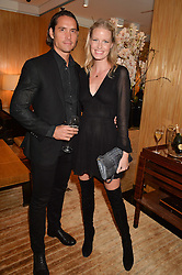 CAROLINE WINBERG and WYNTON FAURE at the Louis Vuitton for Unicef Event #MAKEAPROMISE held at The Apartment, 17-20 New Bond Street, London on 14th January 2016.